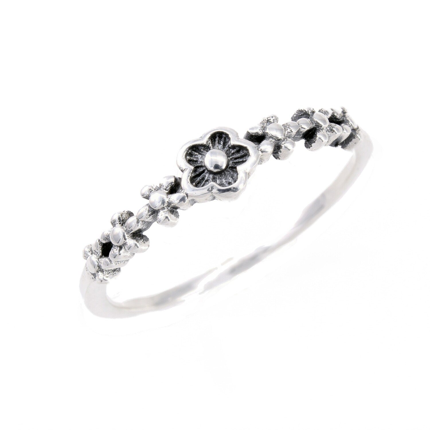 RP3133 Sterling Silver Flowers Ring