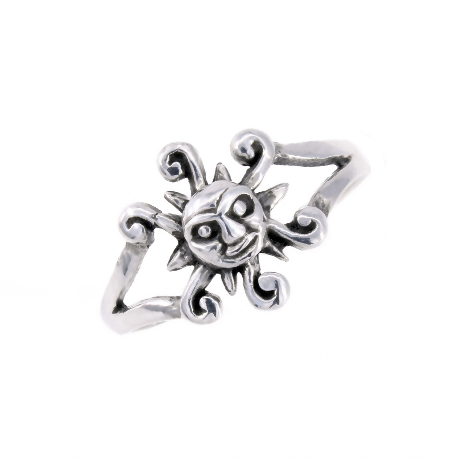 RW2014 Sterling Silver Small Sun Ring
