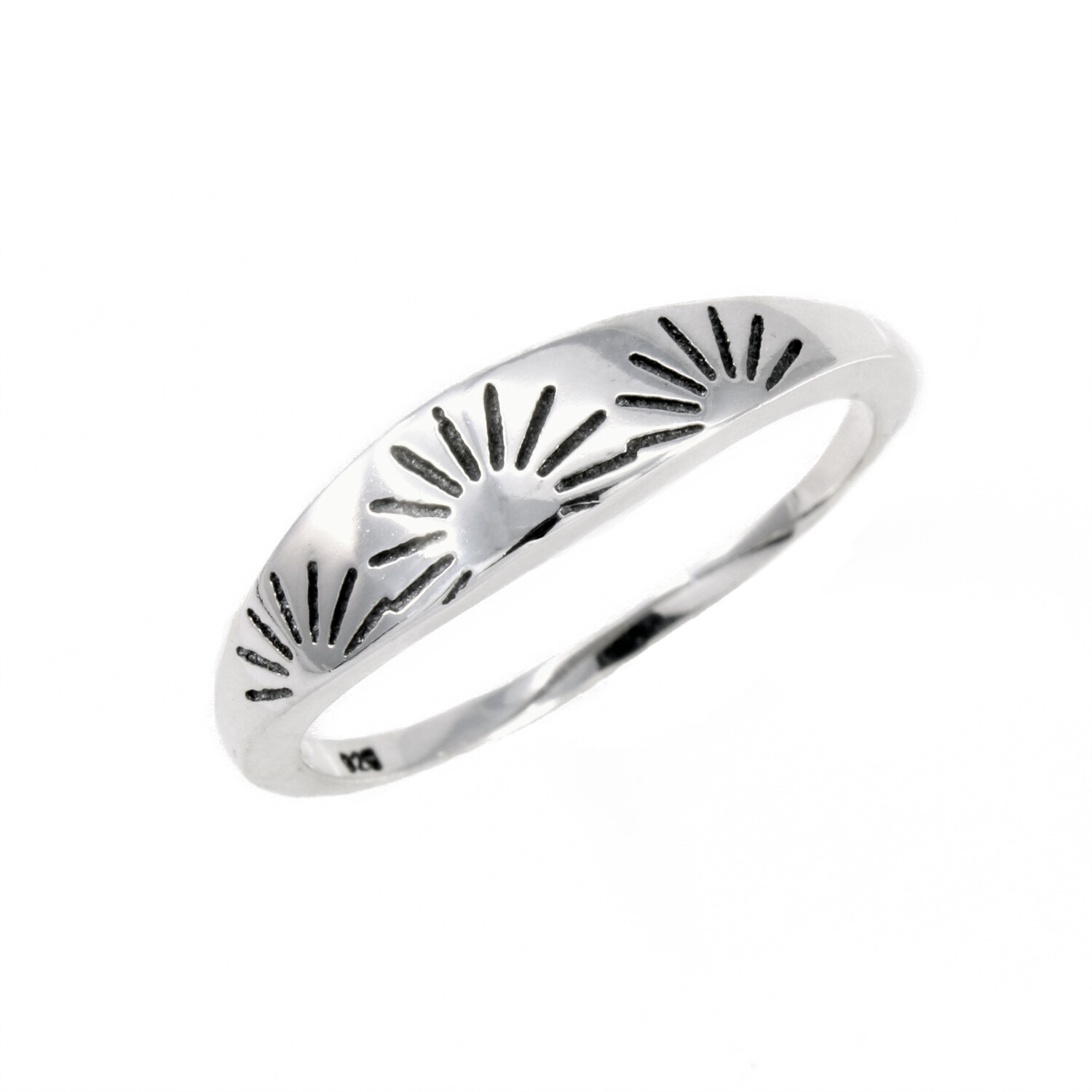RP3680 Sterling Silver Sunrise Band