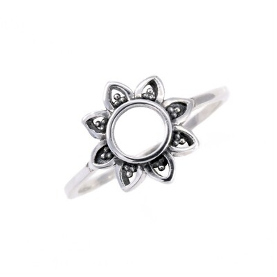 RP3406 Sterling Silver Open Sun/Flower Ring