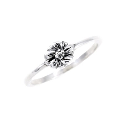 RP3835 Sterling Silver Single Flower Ring