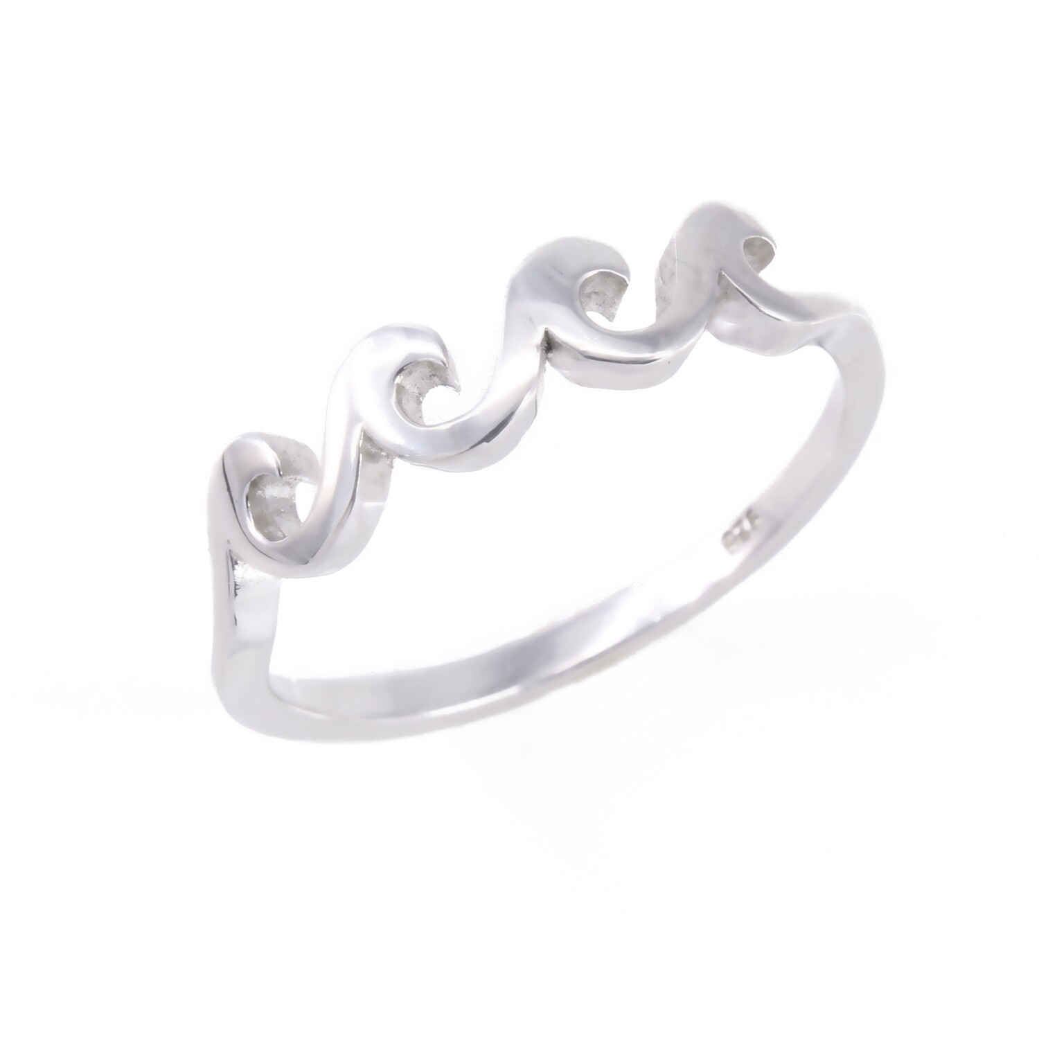 RP2701 Sterling Silver 4 Waves Ring