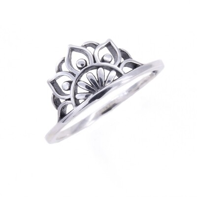 RP3825 Sterling Silver Mandala Rising Ring