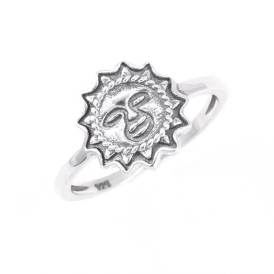 RP3545 Sterling Silver Sun Face Ring