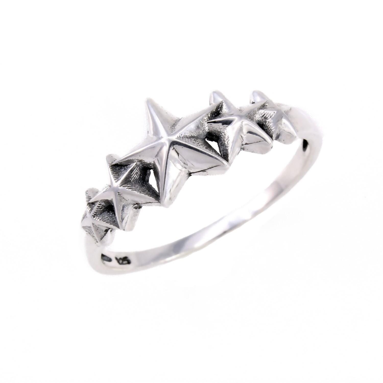 RP3803 Sterling Silver Stars Ring