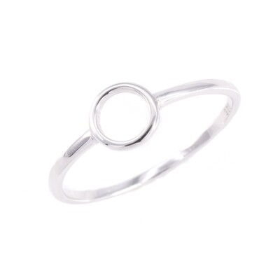 RP3470 Sterling Silver Small Open Circle Ring