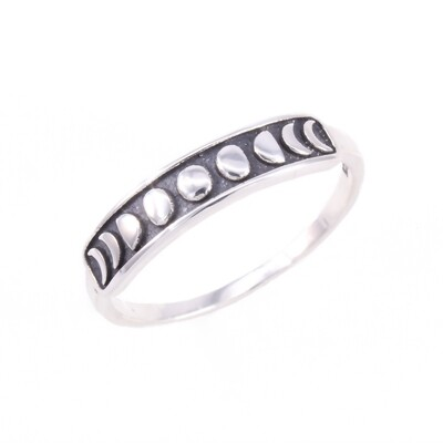 RP3651 Sterling Silver Moon Phases Ring