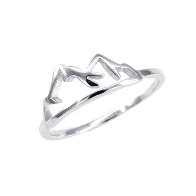 RP3337 Sterling Silver Mountains Ring