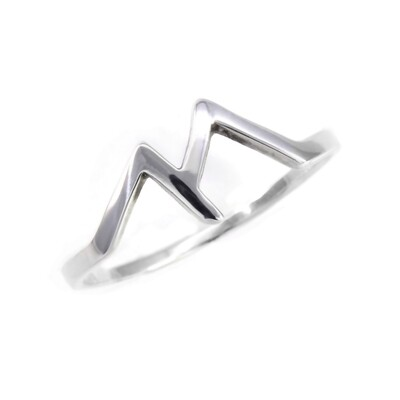 RP3319 Sterling Silver Twin Peaks Ring