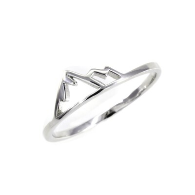 RP3673 Sterling Silver Small Mountain Range Ring