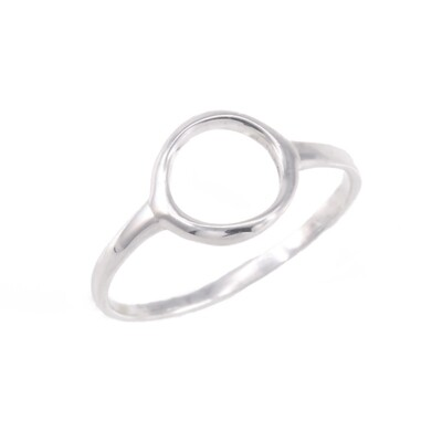 RW2168 Sterling Silver Open 8mm Circle Ring