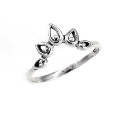 RP3700 Sterling Silver Bali Crown Ring