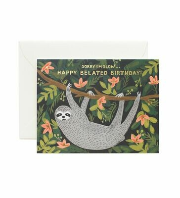Sloth Belated Birthday Card - Rifle Paper Co. RPC107