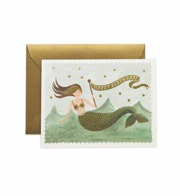 Vintage Mermaid Birthday Card - Rifle Paper Co. RPC111