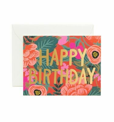 Poppy Birthday Card - Rifle Paper Co. RPC119
