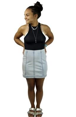 Free People FADED WASH Modern Femme Mini Skirt