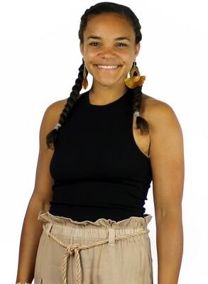 Free People Hayley Racerback Brami - Black