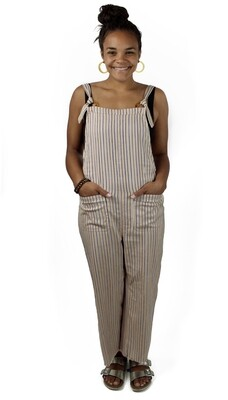 Billabong Striped Jumpsuit BRU-KHD