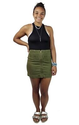 Free People Virgo Skirt - Cadet Green