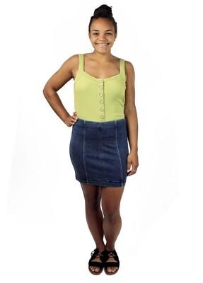 Free People DK DNM Modern Femme Mini Skirt