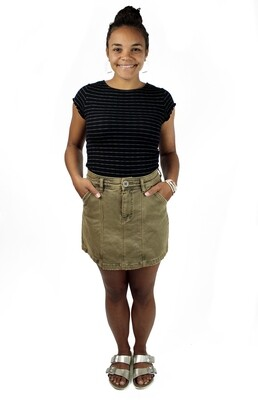 Free People Lennox Skirt - Brass