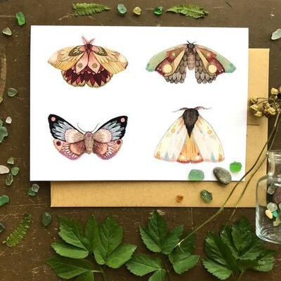 PH17 Moths III Greeting Card