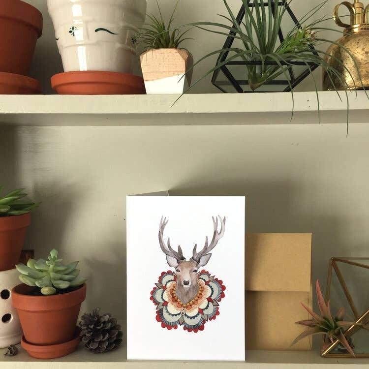 PH19 Deer Collector Greeting Card