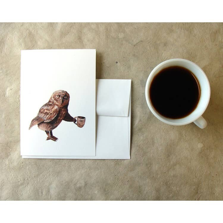 PH5 Owl Critters + Cups Greeting Card