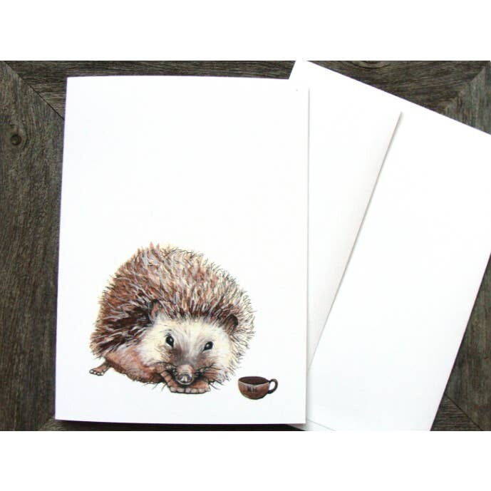 PH6 Hedgehog Critters + Cups Greeting Card
