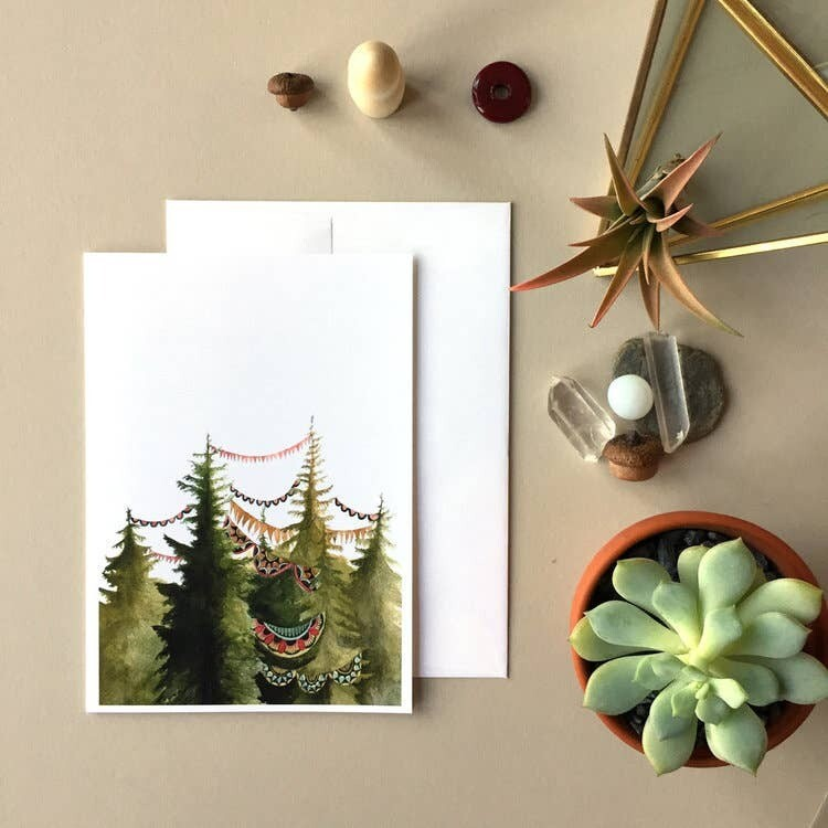 PH8 In the Quilted Forest Greeting Card