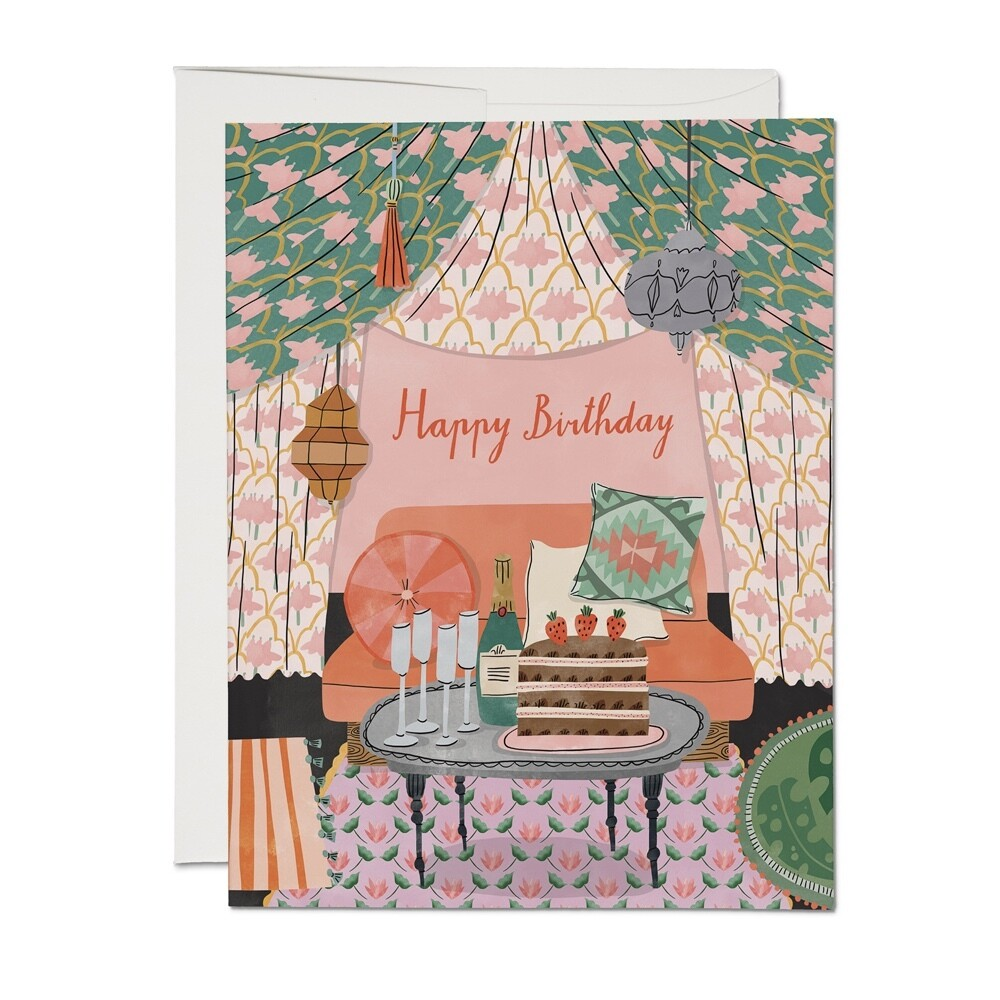 RC30 Nomad Tent Birthday Card