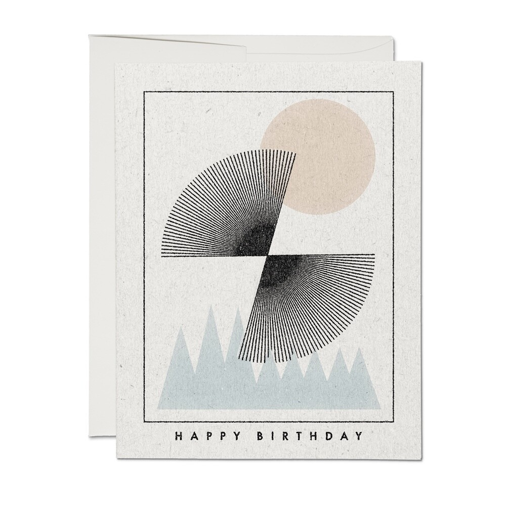 Mountain Sunset Birthday Card - RC40