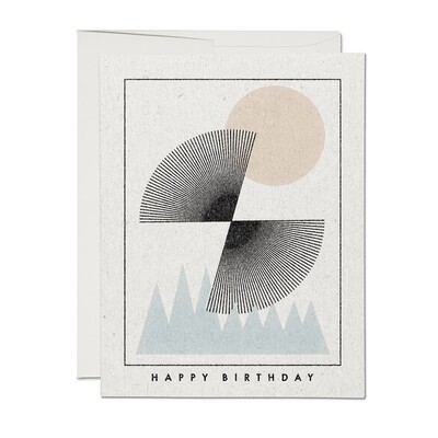 RC40 Mountain Sunset Birthday Card