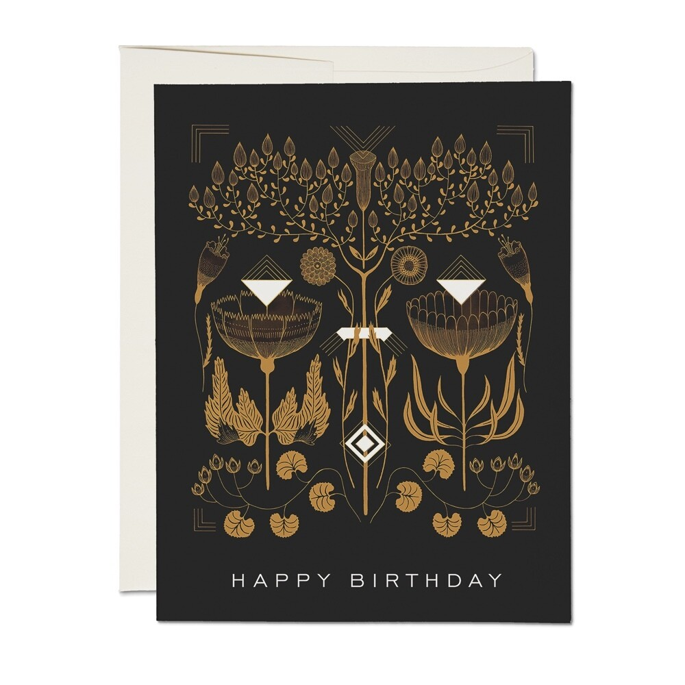 Amber + Gold Birthday Card - RC25