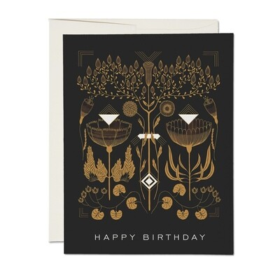 RC25 Amber + Gold Birthday Card