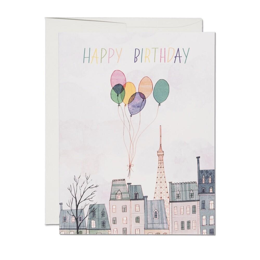 RC20 Paris Balloons Birthday Card
