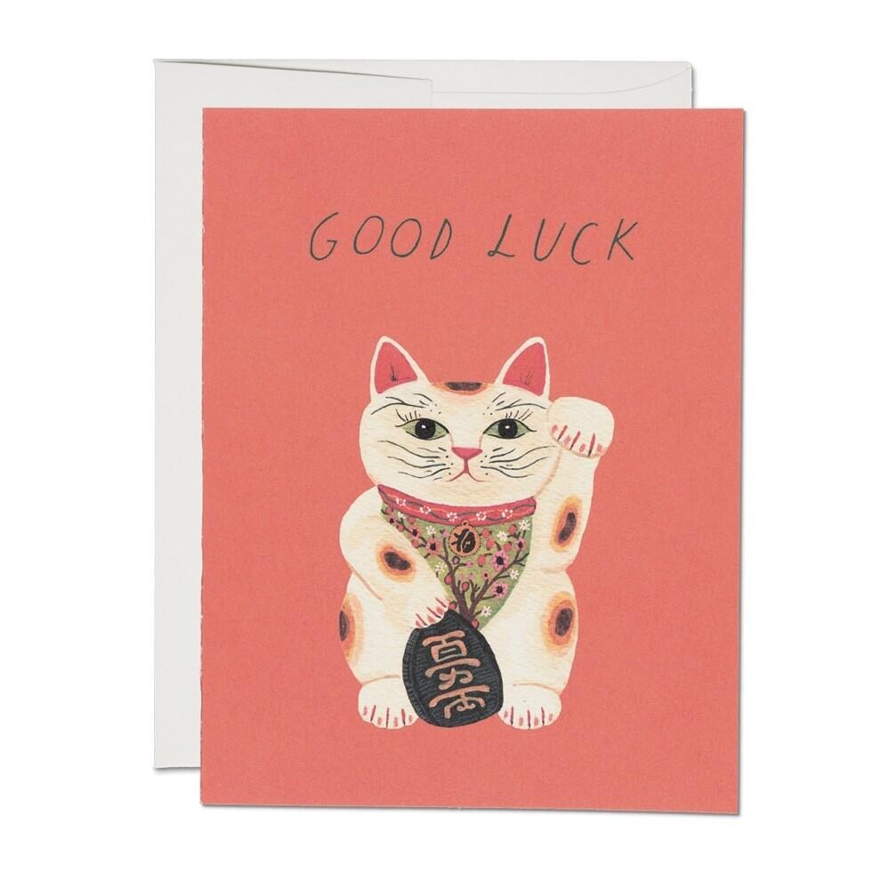 Good Luck Kitty Card - RC28
