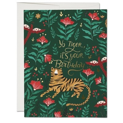RC32 Yo Tiger Birthday Card