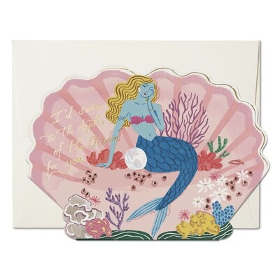 Blue Mermaid Card - RC48
