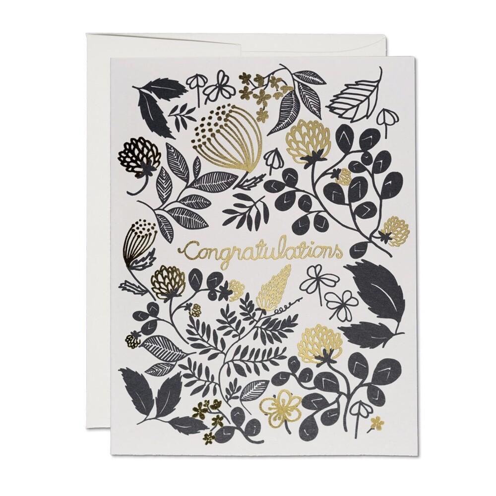 Clover Gold Congratulations Card - RC5