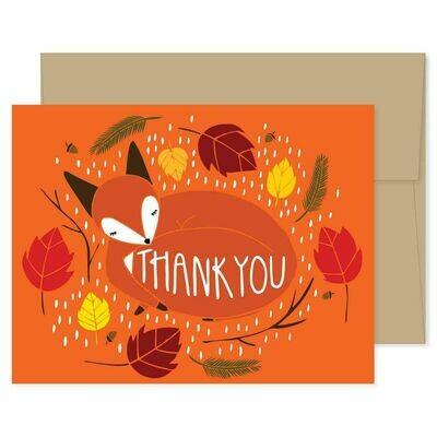 GG6 Fox Thank You Card