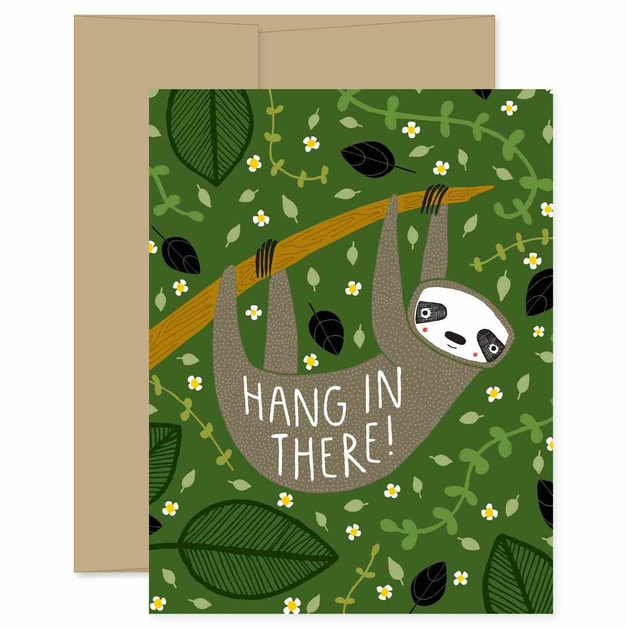 GG7 Sloth Hang in There Card