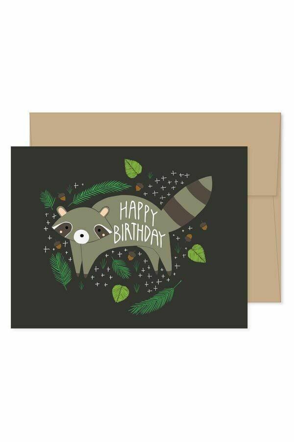GG5 Birthday Raccoon Card