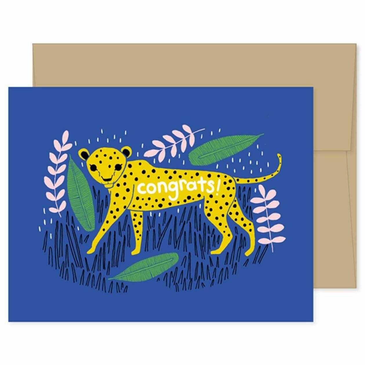 GG8 Cheetah Congratulations Card