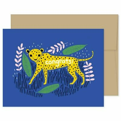 GG8 Cheetah Congratulations Card