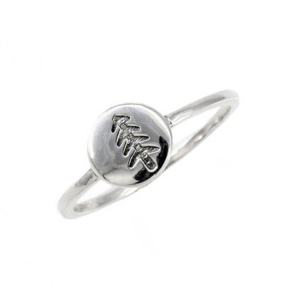 RP3551 Sterling Silver Mini Tree Disc Ring