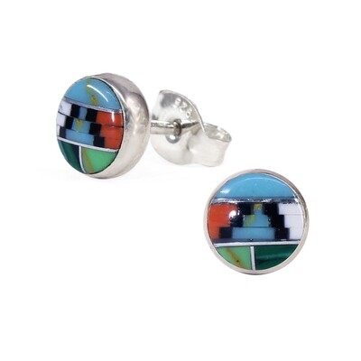 Mosaic 6mm Sterling Silver Circle Posts - P6-MOW