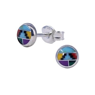 Mosaic 5mm Sterling Silver Circle Posts - P5-MOY