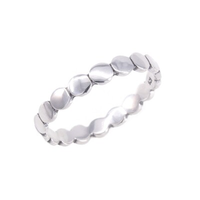 RP3460 Sterling SIlver Small Circles Band