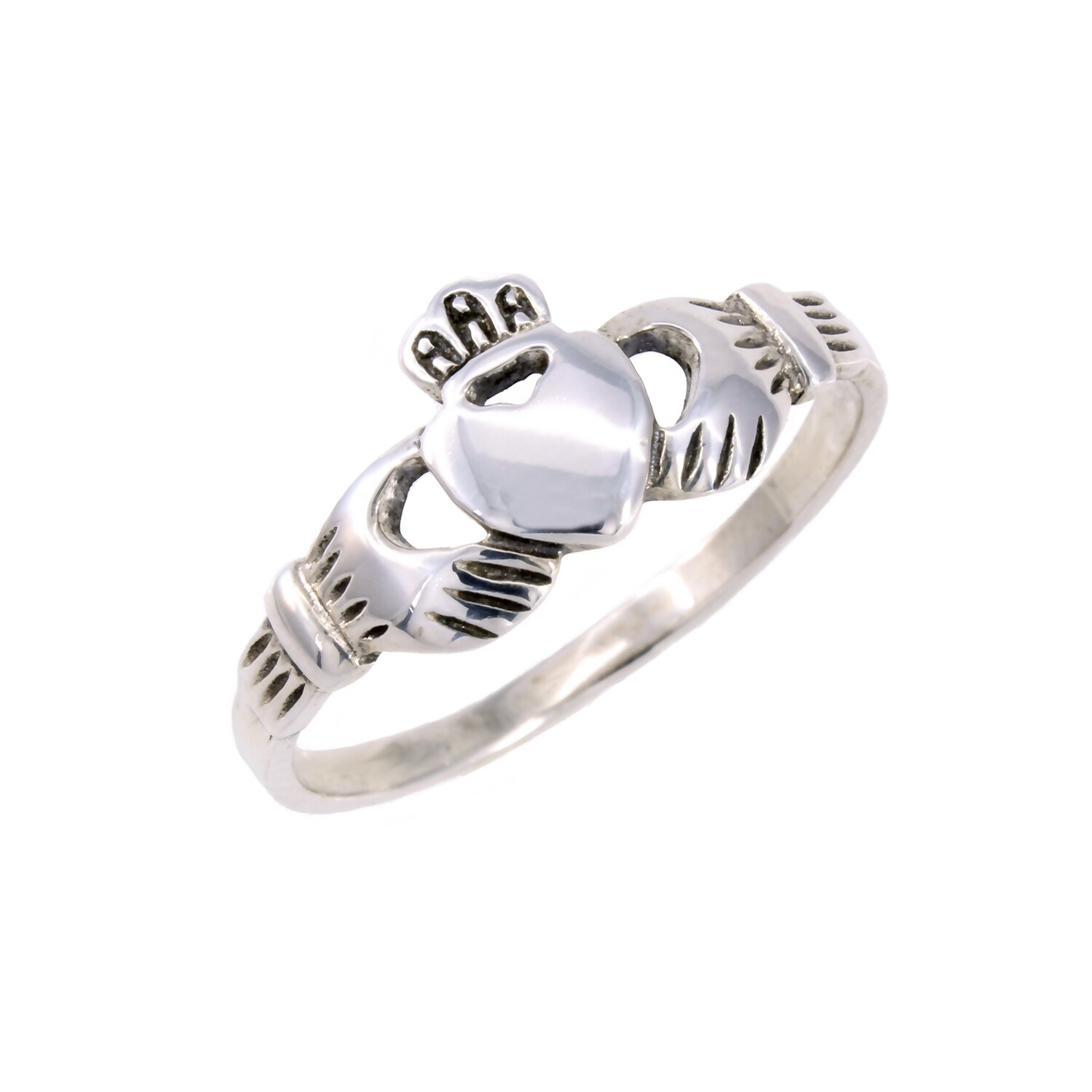 RP0112 Sterling Silver Claddaugh Ring